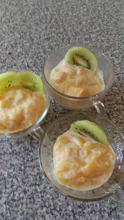 Mango crème with Kiwi
